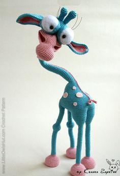 I so want to learn to do this. :)   New project of Gerge Giraffe by Ksanka_z. Crochet pattern by Galina Astashova for LittleOwlsHut