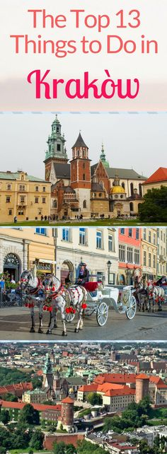 Looking for ideas for what to do in Poland? I recommend that you travel to Krakow, a historic city with a stunning old town, castles and Jewish Quarter - Kazimierz. There's also plenty of castles to explore - ideal if you love photography - and the haunting concentration camp, Auschwitz, is only a short journey away. Find out the 13 places to see in Krakow in this guide, from afternoon ideas to full days out. What are you waiting for? It's time to get travelling!