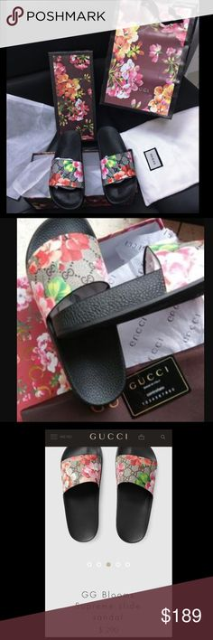 Gucci flip flops Gucci slides. Gucci flip flops. Gucci shoes. Gucci sandals. Women's Gucci. Gucci supreme. Guccissima. Gucci Princetown. Gucci slipper. GG. Gucci blooms. Include the Gucci bag. With Gucci box. Floral Gucci shopping bag. All as photo. No offers please I am giving u so the good price now. European sz. Truly Gucci girls Gucci Shoes Sandals