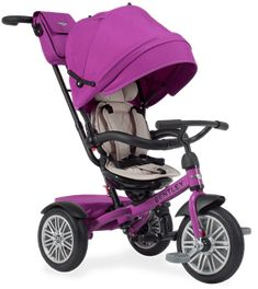 Bentley Trike Reversible Seat Convertible Tricycle Stroller Fuschia Pink BentLey Craftmanship Designed in collaboration with Bentley Motors Limited, thes Bentley Convertible, Convertible Stroller, Apex Scooters, Kids Trike, Bentley Design, Bentley Motors, Stitching Leather, Baby Gear, New Baby Products