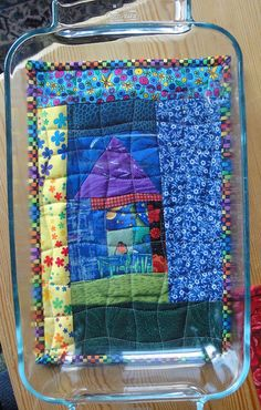 Such a cute idea for a gift!  <3<3<3  Hot pad by tubakk-quilt, via Flickr
