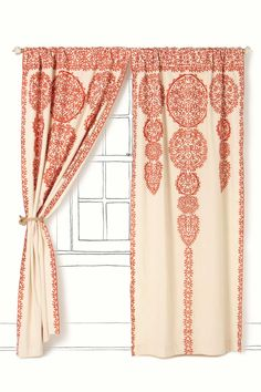 Marrakech Curtain #anthropologie Shown here in light red, but also aval. Description from pinterest.com. I searched for this on bing.com/images