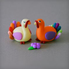 clay turkeys