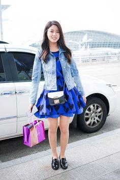 Official Korean Fashion : AOA Seolhyun Airport Fashion