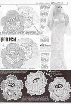 Яндекс.Фотки Freeform Crochet, Thread Crochet, Crochet Motif, Crochet Flowers, Crochet Lace, Crochet Cross, Crochet Chart, Crochet Wedding Dresses, Irish Crochet Patterns