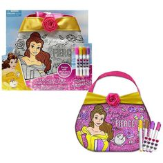 Disney Princess Belle Color N Style Purse, Multicolor