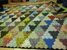 Neat hexagon quilt!