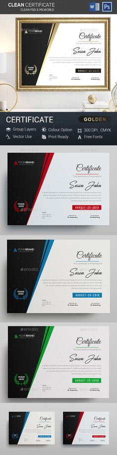 Gold Certificate - Certificates Stationery