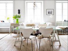 mesa jantar com cavaletes