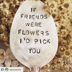 "Guests love the spoon art by #SawdustArtFestival artist Denise Miller. ""If friends were flowers I'd pick you."" #SupportLocalArt #LagunaBeachArtist"