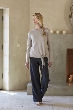 Pure Jill side-tie pullover (in jute heather).