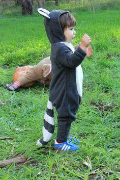 Halloween Handmade Raccoon Baby Costume by ThumbelinaWorkshop