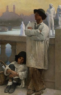 Junge Bildhauer auf einer Brücke in Paris - Carl Ernst von Stetten