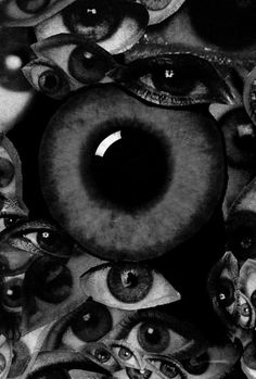 Eyes (This is truly creepy! and awesome! Collage Kunst, Arte Obscura, Photocollage, Eye Art, Art Plastique, Macabre, Trippy, Dark Art, Art Inspo