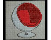 Retro chairs, a caravans and a vintage camera- very cool cross-stitch patterns