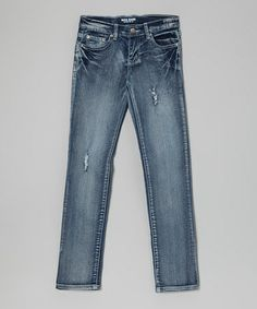 Take a look at this Medium Wash Distressed Jeans - Toddler, Girls & Juniors by Miss Jeans Premium on #zulily today!