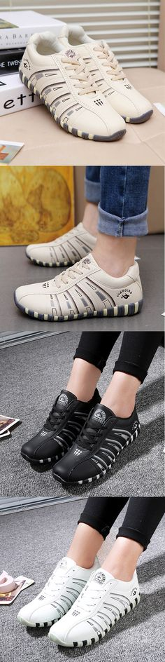 online retailer f429d aa0cb Printing Trainers Lace Up Comfortable Sport Casual Shoes For Women