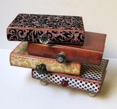 Pile Of Books Four Drawer Jewelry Box Trinket Box Treasure Box