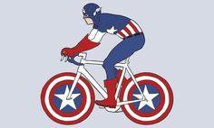 E se os super-heróis de desenho animado andassem de bicicleta? O ilustradorMike Joos criou bicicletas para cada herói, alinhada com o personagem.Fonte