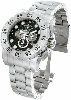 Men's Stainless Steel Leviathan Chronograph Diver Black Dial Invicta. $289.99. Save 77%!