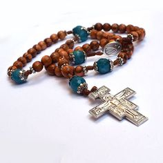 Wooden Rosary Olive wood from Holy Land St Damiano Saint