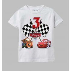 Disney Cars Birthday Shirt Featuring McQueen and Mater