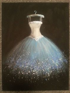 I'd love to incorporate actual lights into the painting somehow. - I'd love to incorporate actual lights into the painting somehow… - Dress Painting, Painting Of Girl, Ballerina Kunst, Illustration Mode, Ballet Costumes, Girl Dancing, Painting Inspiration, Art Pictures, Fashion Art