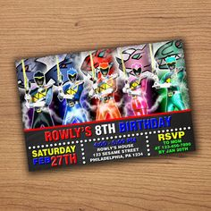 Power Rangers Dino Charge invitation  Power by invitesbirthday