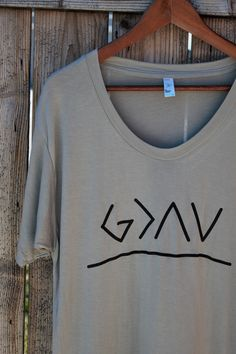 God is greater than the ups and downs tee