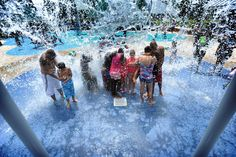 The splash pad at Water Works Park in downtown Tampa was popular as temperatures routinely hit Splash Pad, Local Attractions, Florida Vacation, Local News, Tampa Bay, Popular, Park, Water, Gripe Water