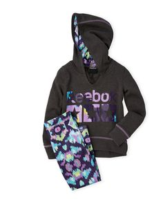 Reebok (Girls 4-6x) Two-Piece Three Stars Active Set