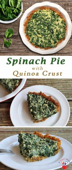 A delicious gluten-free spinach pie that even your non gluten-free friends will love! It's a healthy side dish set into a tasty, crunchy quinoa crust. via @2CookinMamas