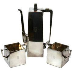 Bauhaus-influenced art deco Tiffany coffee set.