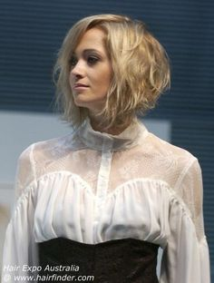 Pretty Pale Blonde - 60 Layered Bob Styles: Modern Haircuts with Layers for Any Occasion - The Trending Hairstyle Concave Bob Hairstyles, Angled Bob Hairstyles, Layered Haircuts, Cool Hairstyles, Short Haircuts, Medium Hair Styles, Curly Hair Styles, Assymetrical Hair, A Line Bobs