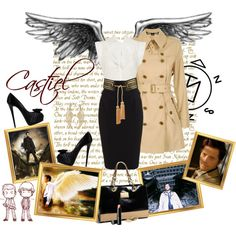 """Supernatural - Castiel"" by kyra-angel on Polyvore"