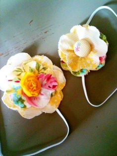 fabric flower head bands, for babies