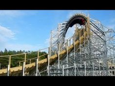 Hades 360 Looping Wooden Roller Coaster POV Mt Olympus Theme Park Wisconsin Dells