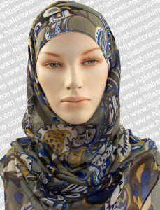 Hijab - Seychelles Fun - Grey Maxi