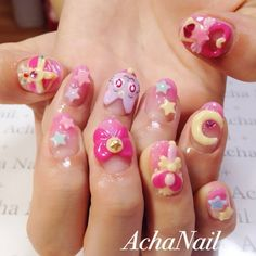 Sailor moon nail- I don't do acrylics, but for this, I would.
