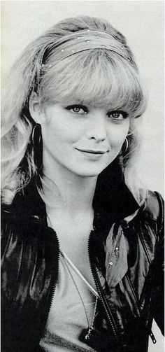 Grease 2- Michelle Pfeiffer as Stephanie Zinone. This outfit was my favorite from the movie. That headbanded hairstyle is just a great look for her.