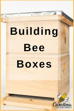 How to Build a Beehive of Your Own You can make a beehive of your own. Anyone with good carpentry skills can enjoy building bee boxes. You need several things to be successful. Starting off with a good set of hive plans is key. Building A Beehive, Bee Hive Plans, Honey Bee Hives, Honey Bees, Honey Bee Box, Beekeeping For Beginners, Raising Bees, Bee House, Bee Farm