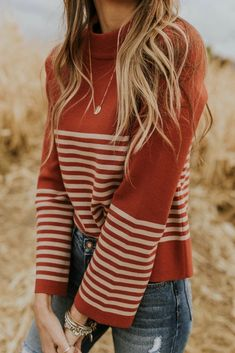 Denton Stripe Sweater  2019  Denton Stripe Sweater in Crimson | ROOLEE  The post Denton Stripe Sweater  2019 appeared first on Sweaters ideas.