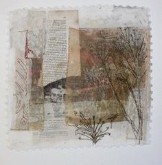 Wren 30cm Square   Drawing and stitch are closely related in my work .Both are about the making of marks    I  use  materials collected a...