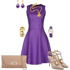 A fashion look from January 2016 featuring Michael Kors dresses, Valentino pumps and Christian Louboutin clutches. Browse and shop related looks.