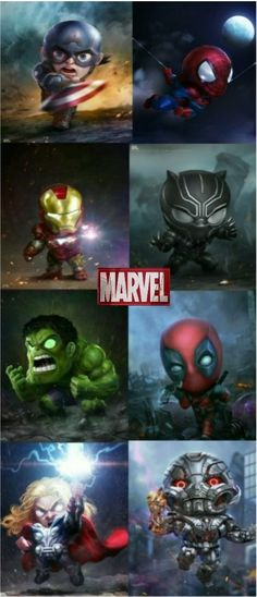 What your'e kid is trying to act like a superhero or villain Chibi Marvel, Ms Marvel, Marvel Heroes, Marvel Avengers, Avengers Cartoon, Baby Avengers, Marvel Dc Movies, Marvel Funny, Mundo Marvel