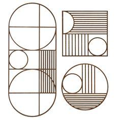 Agatha O I Ferm+Living+Wooden+Outline+Trivet Table edge design inspiration Motif Art Deco, Art Deco Pattern, Pattern Design, Graphisches Design, Edge Design, Art Deco Design, Textures Patterns, Wall Patterns, 3d Prints