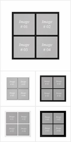 Grid photo collection (Wall Art)