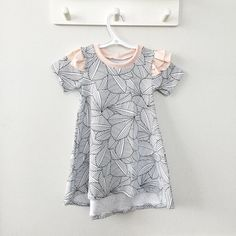 Dusty Pink, Geo, Monochrome, Kids Outfits, Short Sleeve Dresses, Lovers, Nature, Handmade, Kids Clothing