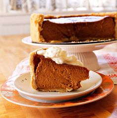 """Deep Dish Pumpkin Pie--for pumpkin lovers. My Hunni loves pumpkin pie. It is the only """"yellow vegetable"""" that he eats, so he tries to make up for all the summer squash he didn't consume all summer..."""
