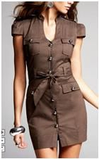 tight military dress